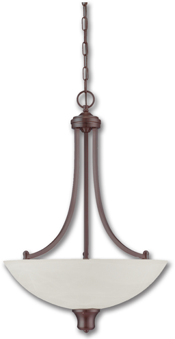 Picture of 3-LIGHT PENDANT FIXTURE - OIL RUBBED BRONZE WITH ALABASTER GLASS