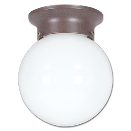 "Picture of 6"" OPAL FLUORESCENT GLOBE FIXTURE - OIL RUBBED BRONZE GU24 BASE"