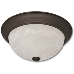 "Picture of 11"" FLUSH CEILING FIXTURE - OIL RUBBED BRONZE"