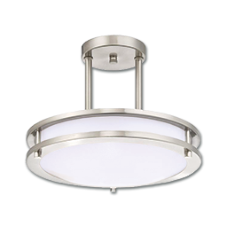 Picture of DIMMABLE LED INDOOR SEMI-FLUSH MOUNT CEILING FIXTURE - BRUSHED NICKEL