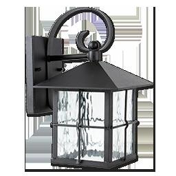 9W EXTERIOR LED LANTERN - BLACK