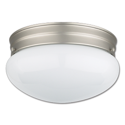 "Picture of 9-1/2"" LED MUSHROOM CEILING FIXTURE - SATIN NICKEL"