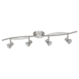 "Picture of 5-1/4""H 4 HEAD LED TRACK LIGHT - SATIN NICKEL"