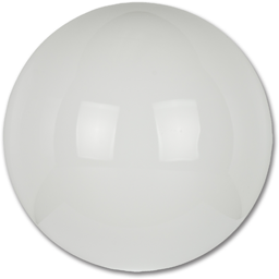 "Picture of 16"" WHITE PLASTIC GLOBE- NECKLESS"