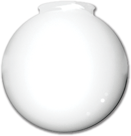 "Picture of 8"" WHITE PLASTIC BALL 4"" FITTER"