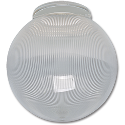 "Picture of 6"" CLEAR RIBBED ACRYLIC GLOBE 3-1/4"" FITTER"