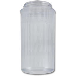 "Picture of 7-1/4"" ACRYLIC THREADED RIBBED JAR"