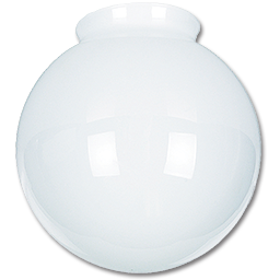 "Picture of 8"" WHITE GLASS GLOBE 4"" FITTER - 4/PK"