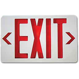 Picture of EXIT SIGN WITH BATTERY BACKUP