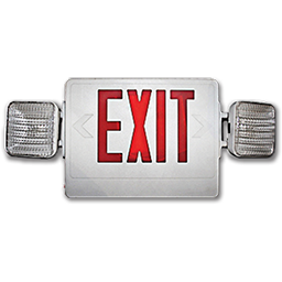 Picture of EXIT SIGN WITH EMERGENCY LIGHT - COMBO