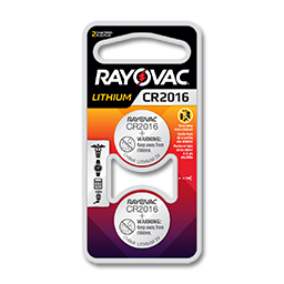 Picture of RAYOVAC CR2016 3V LITHIUM BATTERY 2-PK