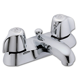 Picture of GERBER TWO HANDLE LAVATORY FAUCET WITH POP-UP - CHROME