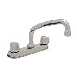 Picture of GERBER TWO HANDLE KITCHEN FAUCET WITH SPRAY - CHROME