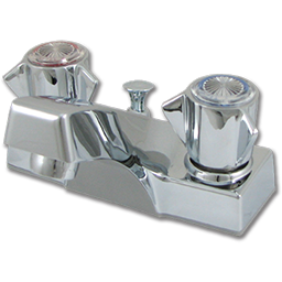 Picture of SAYCO TWO HANDLE LAVATORY FAUCET WITH POP-UP - CHROME