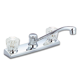 Picture of WHITEFALLS TWO HANDLE KITCHEN FAUCET W/O SPRAY - CHROME