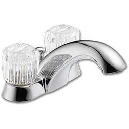 Picture of DELTA TWO HANDLE LAVATORY FAUCET WITHOUT POP-UP - CHROME