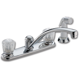Picture of DELTA TWO HANDLE KITCHEN FAUCET WITH SPRAY - CHROME