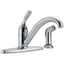 Picture of DELTA SINGLE LEVER KITCHEN FAUCET WITH SPRAY - CHROME