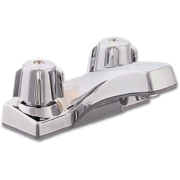 Picture of WHITEFALLS TWO HANDLE COMPRESSION LAVATORY FAUCET WITH POP-UP - CHROME