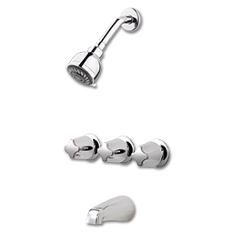 Picture of PFISTER THREE HANDLE TUB & SHOWER FAUCET - CHROME