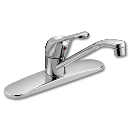 Picture of WHITEFALLS S/L EURO-STYLE KITCHEN FAUCET W/O SPRAY - CHROME