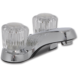 Picture of WHITEFALLS TWO HANDLE EURO-STYLE LAVATORY FAUCET WITHOUT POP-UP - CHROME