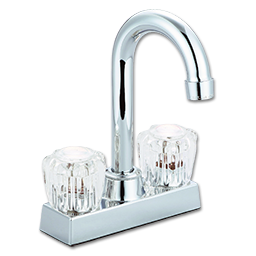 Picture of WHITEFALLS TWO HANDLE BAR FAUCET W/O POPUP - WASHERLESS - CHROME
