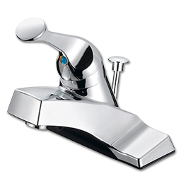 Picture of WHITEFALLS SINGLE LEVER LAVATORY FAUCET WITH POP-UP - WASHERLESS - CHROME