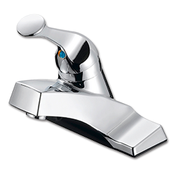 Picture of WHITEFALLS SINGLE HANDLE LAVATORY FAUCET WITHOUT POP-UP - WASHERLESS CHROME