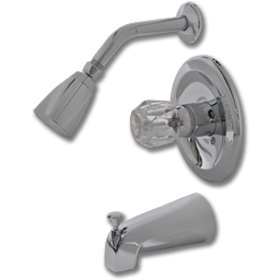 Picture of WHITEFALLS SINGLE ACRYLIC HANDLE TUB/SHOWER FAUCET - CHROME