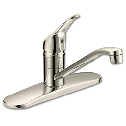 Picture of WHITEFALLS SINGLE HANDLE KITCHEN FAUCET WITHOUT SPRAY - BRUSHED NICKEL