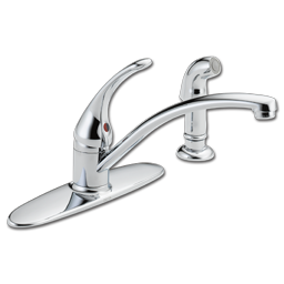 Picture of DELTA SINGLE HANDLE KITCHEN FAUCET W/SPRAY-CHROME