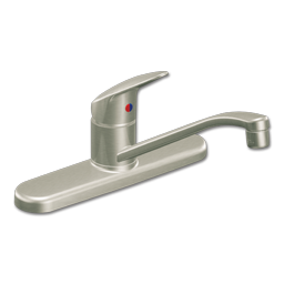 "Picture of CFG CORNERSTONE SINGLE LEVER KITCHEN FAUCET WITHOUT SPRAY WITH 3/8""X24"" FLEXIBLE SUPPLY LINES - STAINLESS STEEL"