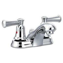 Picture of CFG CAPSTONE TWO LEVER LAVATORY FAUCET WITHOUT POP-UP - CHROME