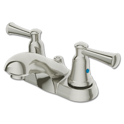 Picture of CFG CAPSTONE TWO LEVER LAVATORY FAUCET BRUSHED NICKEL WITHOUT POP-UP - BRUSHED NICKEL