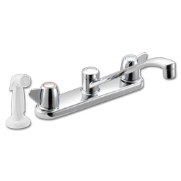 Picture of CFG CORNERSTONE TWO HANDLE KITCHEN FAUCET WITH SPRAY - CHROME
