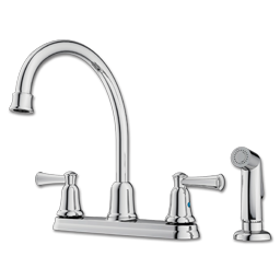 Picture of CFG CAPSTONE TWO HANDLE HIGH ARC KITCHEN FAUCET WITH SPRAY - CHROME