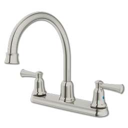Picture of CFG CAPSTONE TWO HANDLE HIGH ARC KITCHEN FAUCET WITHOUT SPRAY - CLASSIC STAINLESS