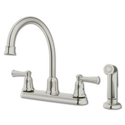 Picture of CFG CAPSTONE TWO HANDLE KITCHEN FAUCET WITH SPRAY - CLASSIC STAINLESS