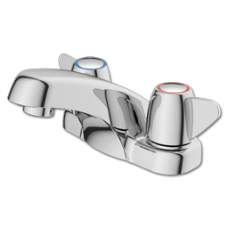 Picture of CFG CORNERSTONE TWO LEVER LAVATORY FAUCET WITHOUT POP-UP - CHROME