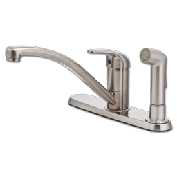 Picture of PFISTER SINGLE HANDLE KITCHEN FAUCET WITH SPRAY - STAINLESS STEEL