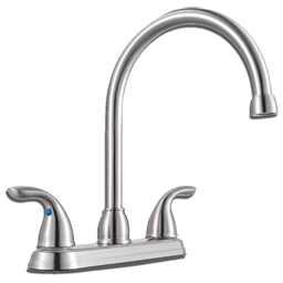 Picture of PFISTER TWO METAL HANDLE HIGH ARC KITCHEN FAUCET WITHOUT SPRAY - STAINLESS STEEL