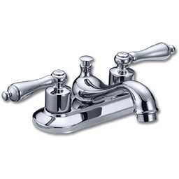 Picture of WHITEFALLS TWO HANDLE LAVATORY FAUCET WITHOUT POP-UP - CHROME