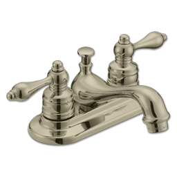 Picture of WHITEFALLS TWO HANDLE LAVATORY FAUCET WITHOUT POP-UP - BRUSHED NICKEL