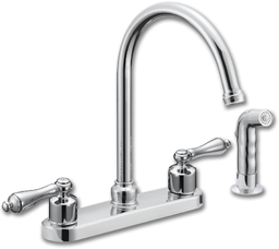 Picture of WHITEFALLS TWO HANDLE KITCHEN FAUCET WITH SPRAY - CHROME