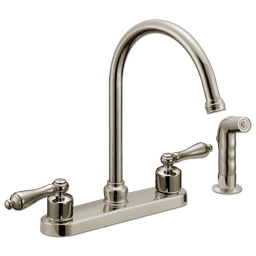 Picture of WHITEFALLS TWO HANDLE KITCHEN FAUCET WITH SPRAY - BRUSHED NICKEL