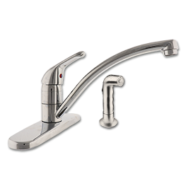 Picture of WHITEFALLS SINGLE HANDLE KITCHEN FAUCET WITH SPRAY - BRUSHED NICKEL