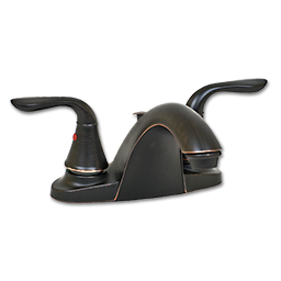 Picture of WHITEFALLS TWO HANDLE LAVATORY FAUCET WITH POP-UP - OIL RUBBED BRONZE