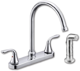 Picture of WHITEFALLS 2-HANDLE KITCHEN FAUCET W/SPRAY - BRUSHED NICKEL