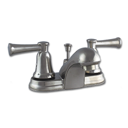 Picture of TWO HANDLE LAVATORY FAUCET W/POP-UP - SATIN NICKEL